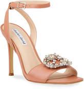 Charles David Vanity Jeweled Leather Sandals