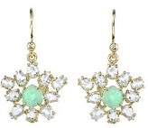 Irene Neuwirth Rose Cut Diamond and Chrysoprase Earrings - Yellow Gold