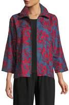 Caroline Rose Divinely Denim Embroidered Jacket, Plus Size