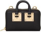 Sophie Hulme Black Medium Albion Double Zip Wallet Bag