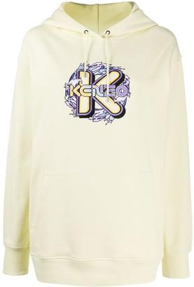 Kenzo K Waves embroidered hoodie
