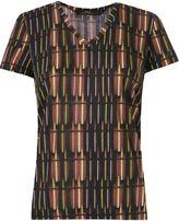 Andrea Marques deep v neck printed t-shirt