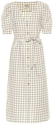 Baum und Pferdgarten Exclusive to Mytheresa Alma checked cotton midi dress