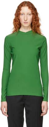 Namacheko Green Double Faced Mock Neck Sweater