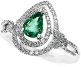 Effy Brasilica by Emerald (5/8 ct. t.w.) and Diamond (1/3 ct. t.w.) Ring in 14k White Gold