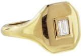 SHAY Essential Pinky Ring Baguette Diamonds - Yellow Gold