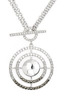 Judith Jack Cooling Effects Swarovksi Crystal Accented & Marcasite Convertible Pendant Necklace