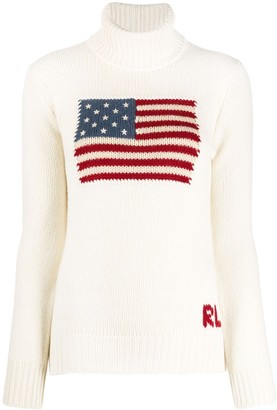 Ralph Lauren Collection Flag Logo Cashmere Jumper