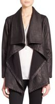 The Kooples Draped Faux Leather Jacket