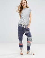 Free People Printed Snuggle Up Joggers