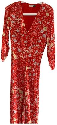 Rixo Red Cotton Dresses