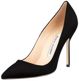 Manolo Blahnik BB Suede 105mm Pump, Black