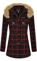 ACEVOG Women's Winter Outwear Down Fleece Coat Hooded Parka Top Jacket