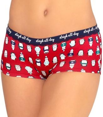 So Juniors' Boxy Boyshort Panties With Lace