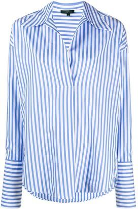 Jejia Stripe-Print Pointed-Collar Shirt