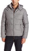 GUESS Men's Wool Hooded Puffer