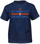adidas Little Boys' Oklahoma City Thunder Practice Wear Graphic T-Shirt