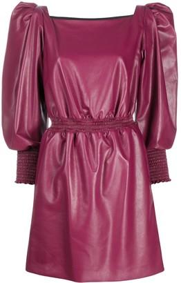 Philosophy di Lorenzo Serafini Faux-Leather Mini Dress