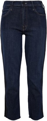 Mother Sweeping Racer Cropped High-rise Slim-leg Jeans