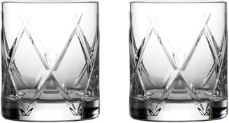Waterford Olann Short Stories Set of 2 Double Old Fashioned Lead Crystal Glasses