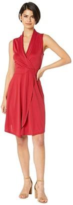 Kensie Modal Jersey Faux Wrap Dress KS5K8254 (Redwood) Women's Dress