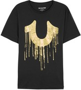 True Religion Black Logo-print Cotton T-shirt