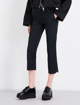 Sportmax Eremi high-rise cropped woven trousers