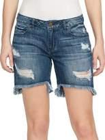 William Rast Teal Bermuda Denim Shorts