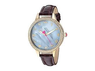Betsey Johnson BJ00705-02 - Mixed Emoji Dial Burgundy Strap Watch