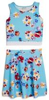 Blush by Us Angels Girls' Floral Tank & Skirt Set - Big Kid
