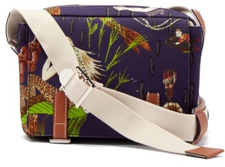Loewe Paula's Ibiza - Mermaid-print Denim Messenger Bag - Blue Multi