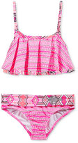 Roxy 2-Pc. Patterned Tankini Top & Bottoms Swim Set, Little Girls (2-6X)