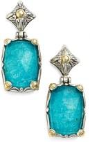 Konstantino Women's 'Iliada' Rectangle Double Drop Earrings