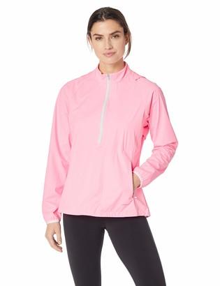 Cutter & Buck ANNIKA by Women's Water-Wind Resistant UPF 50+ Long Sleeve 3/4 Zip Windshirt