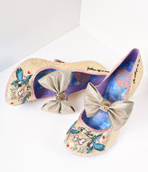 Irregular Choice Gold Sparkle So This Is Love Cinderella Heels