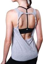 Queenie Ke Womens Prime Yoga Sport Tank Top Vest Super Soft Cowl Back Size M Color
