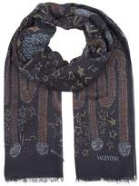 Valentino Garavani Cashmere-silk Camouflage Print Shawl