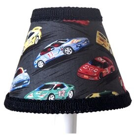 Race Car 11' Fabric Empire Lamp Shade Silly Bear Lighting