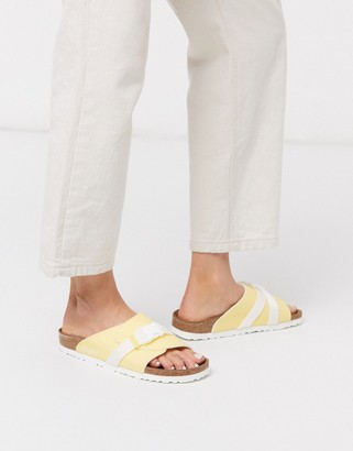Birkenstock Papillio by sporty slides in yellow