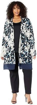 Nic+Zoe Plus Size Positive Outlook Cardigan (Multi) Women's Clothing