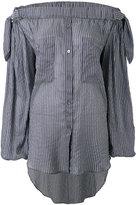 Faith Connexion off-the-shoulder blouse - women - Silk - M