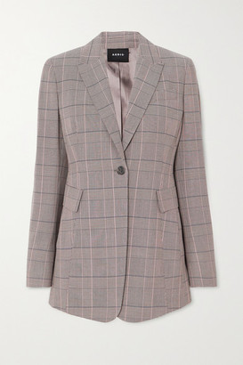 Akris Gash Checked Wool Blazer - Gray