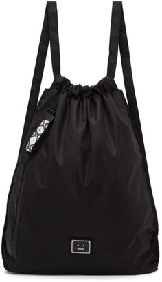 Acne Studios Black Ripstop Drawstring Backpack