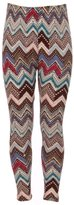 Expert Design Girl's Colorful Chevron Inspired Pattern Print Leggings - L/XL