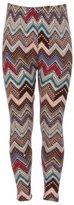 Expert Design Girl's Colorful Chevron Inspired Pattern Print Leggings - S/M