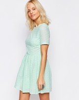 Girls On Film Broderie Skater Dress