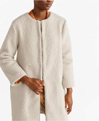MANGO Faux Shearling Coat