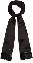 Saint Laurent Fringed silk-georgette scarf