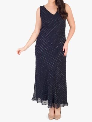 Chesca Diagonal Beaded Dress