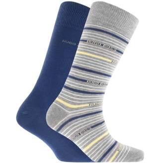 HUGO BOSS Two Pack Socks Blue